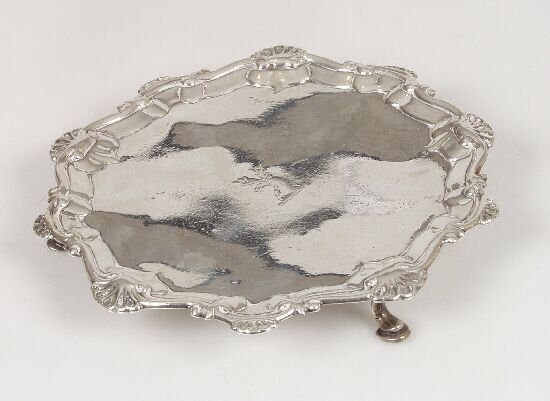 2012: An early George III salver with shell a