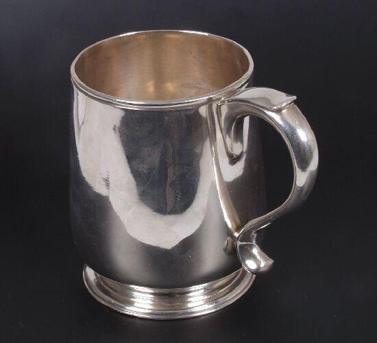 2020: A Britannia silver mug of baluster form