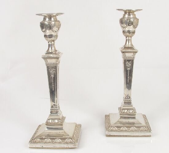 2021: A pair of Victorian Adam style candlest