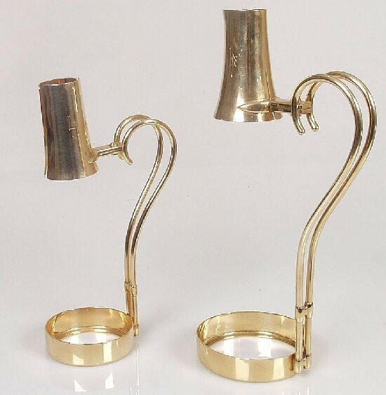 2307: Cartier - a pair of 14ct gold wine bott