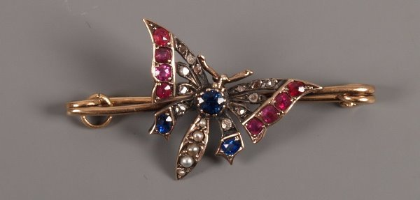 10: Victorian ruby, sapphire, split pearl and rose cut