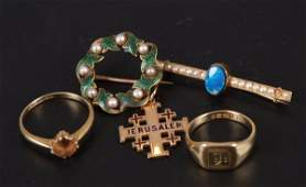 248 A small collection of items to include an 18ct go