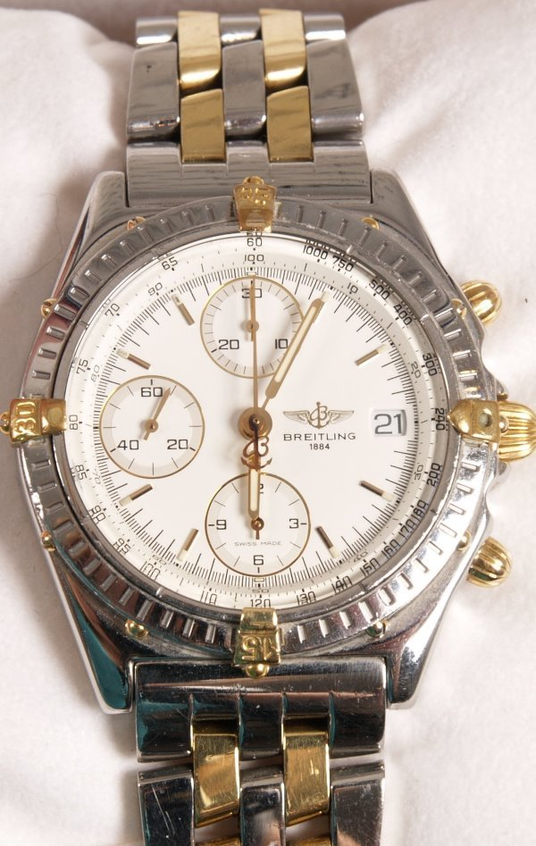 2003: BREITLING - a gentleman's recent 18ct and stainle