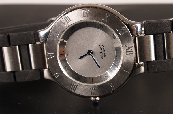 2016: CARTIER - a gentleman's steel Must 21 with a silv