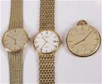 2129 H Samuel gilt metal open faced pocket watch a R