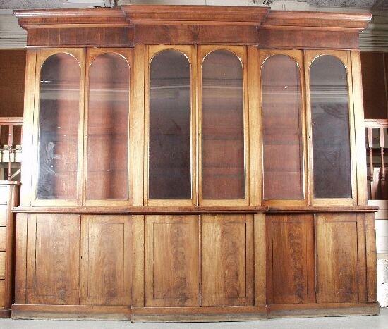 326: An early Victorian mahogany library brea