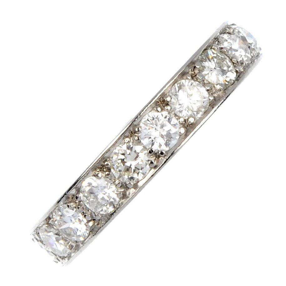 12: A diamond full-circle eternity ring. Each brilliant