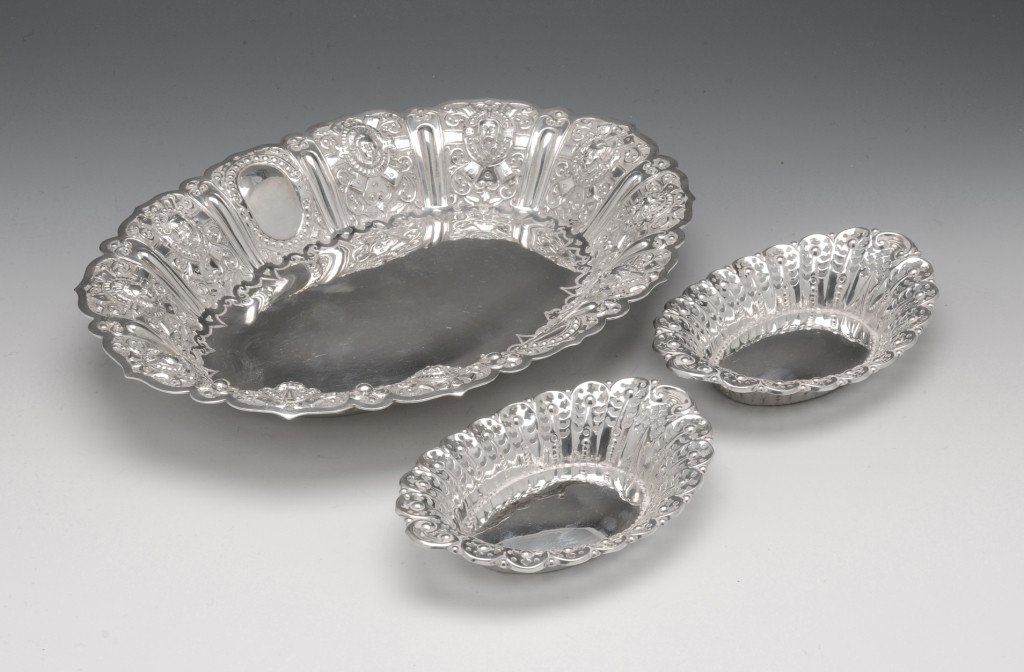 4: Scottish Victorian silver oval dish.