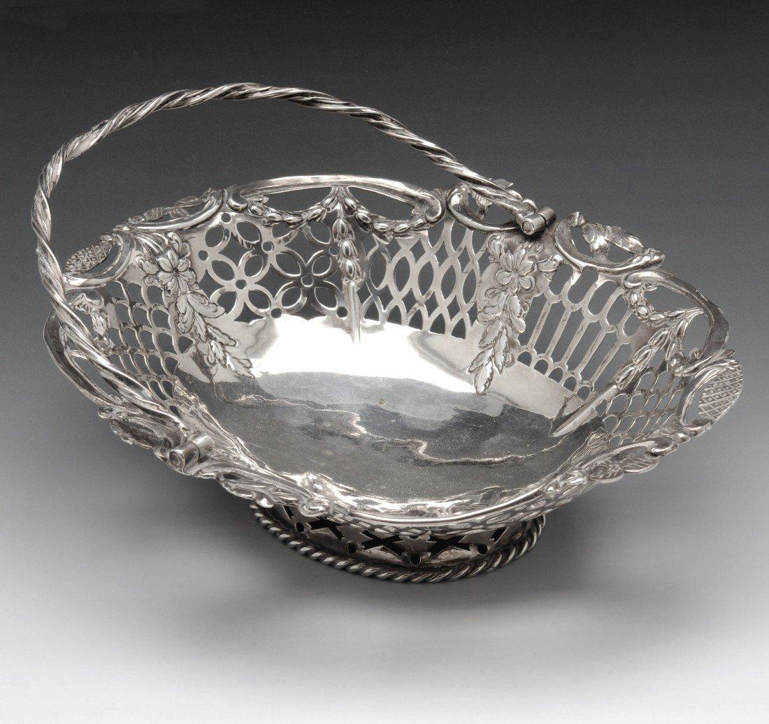 5: George III silver sweetmeat basket.