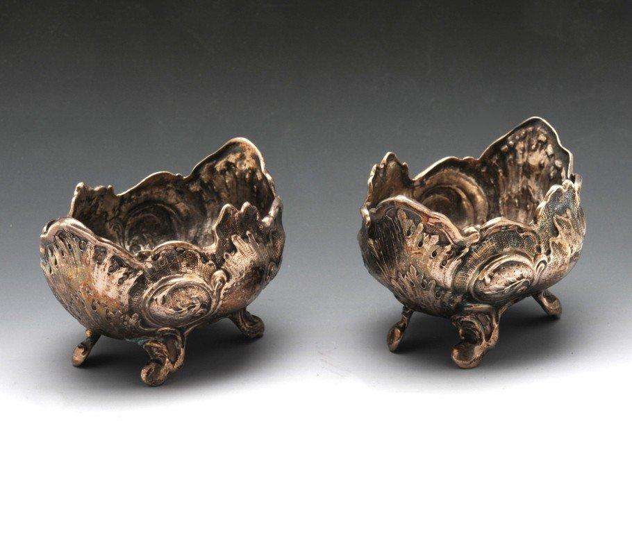 19: Victorian pair of Scottish silver open salts.