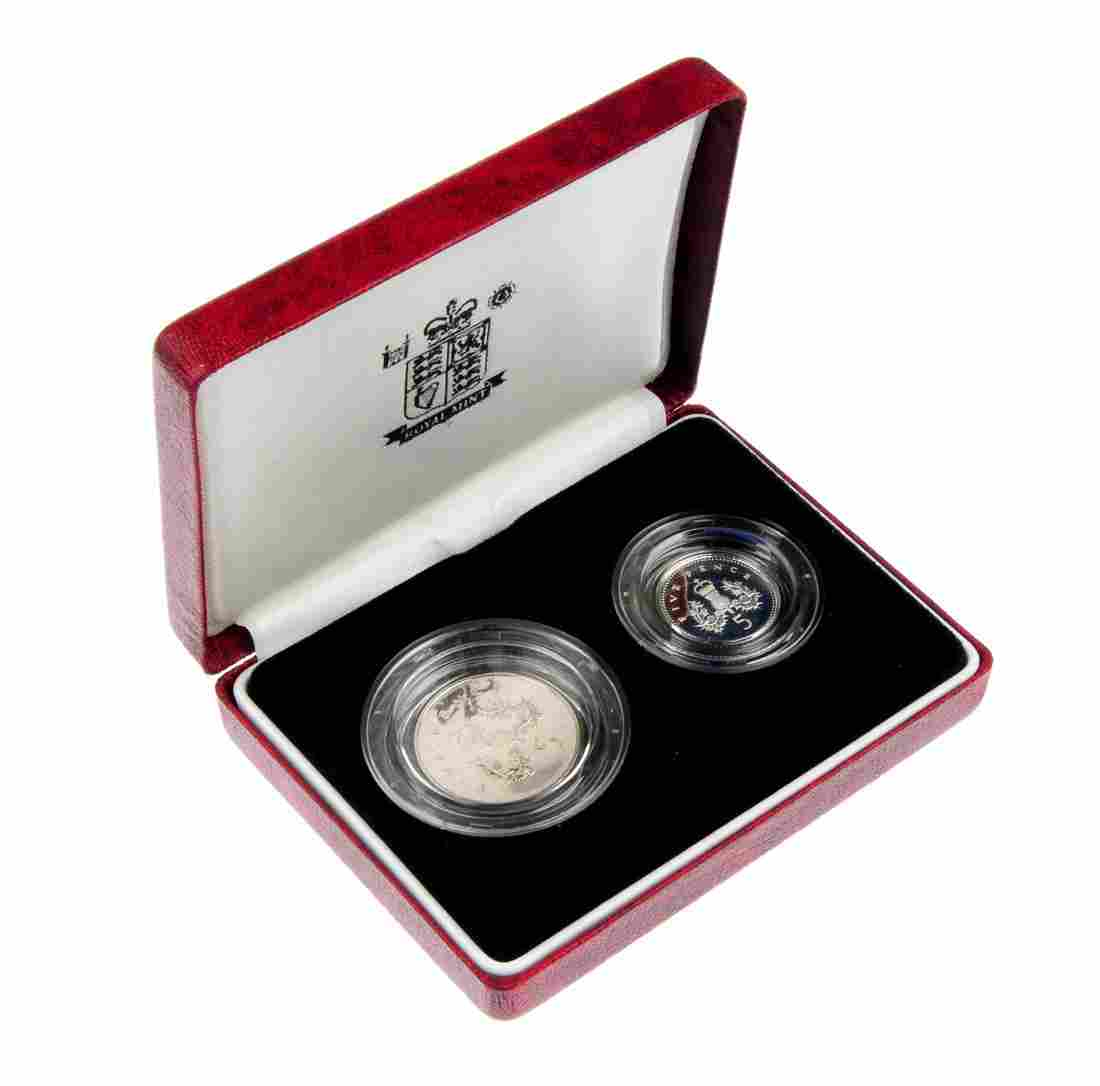 565: Elizabeth II, silver proof 10-Pence Two-Coin sets.