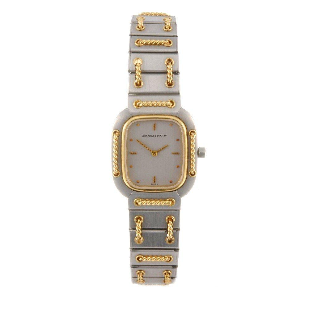 2: AUDEMARS PIGUET - a bi-metal quartz bracelet watch,