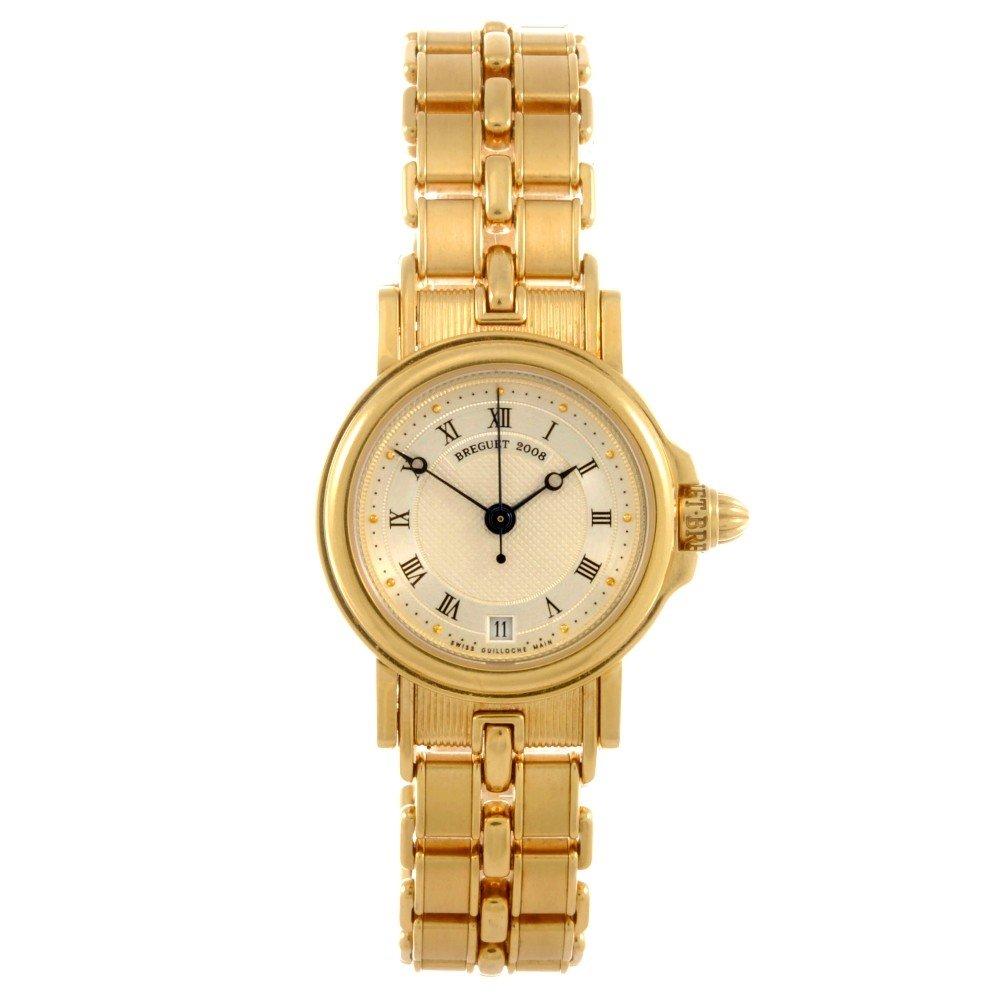 7: BREGUET - an 18k gold automatic bracelet watch, the