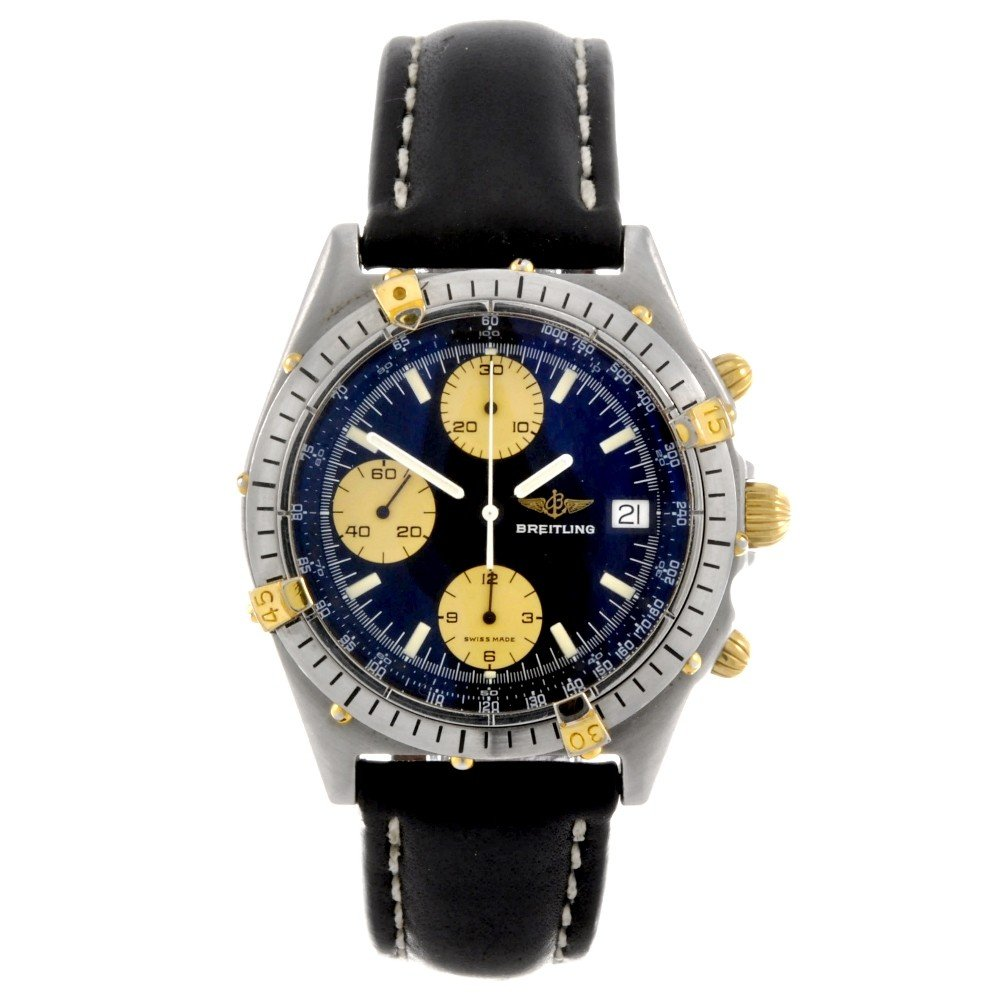 8: BREITLING - a stainless steel automatic gentleman's