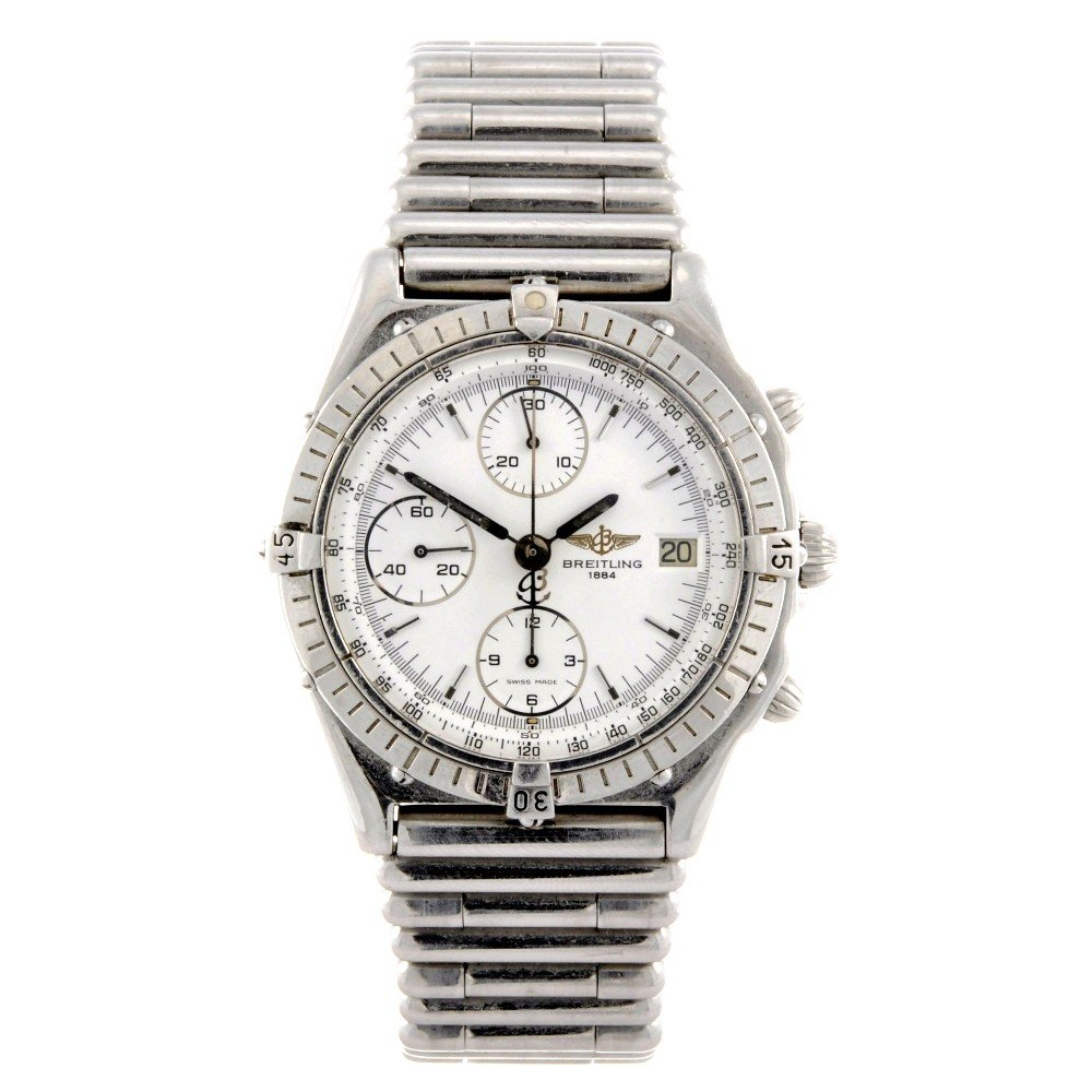 10: BREITLING - a stainless steel automatic chronograph