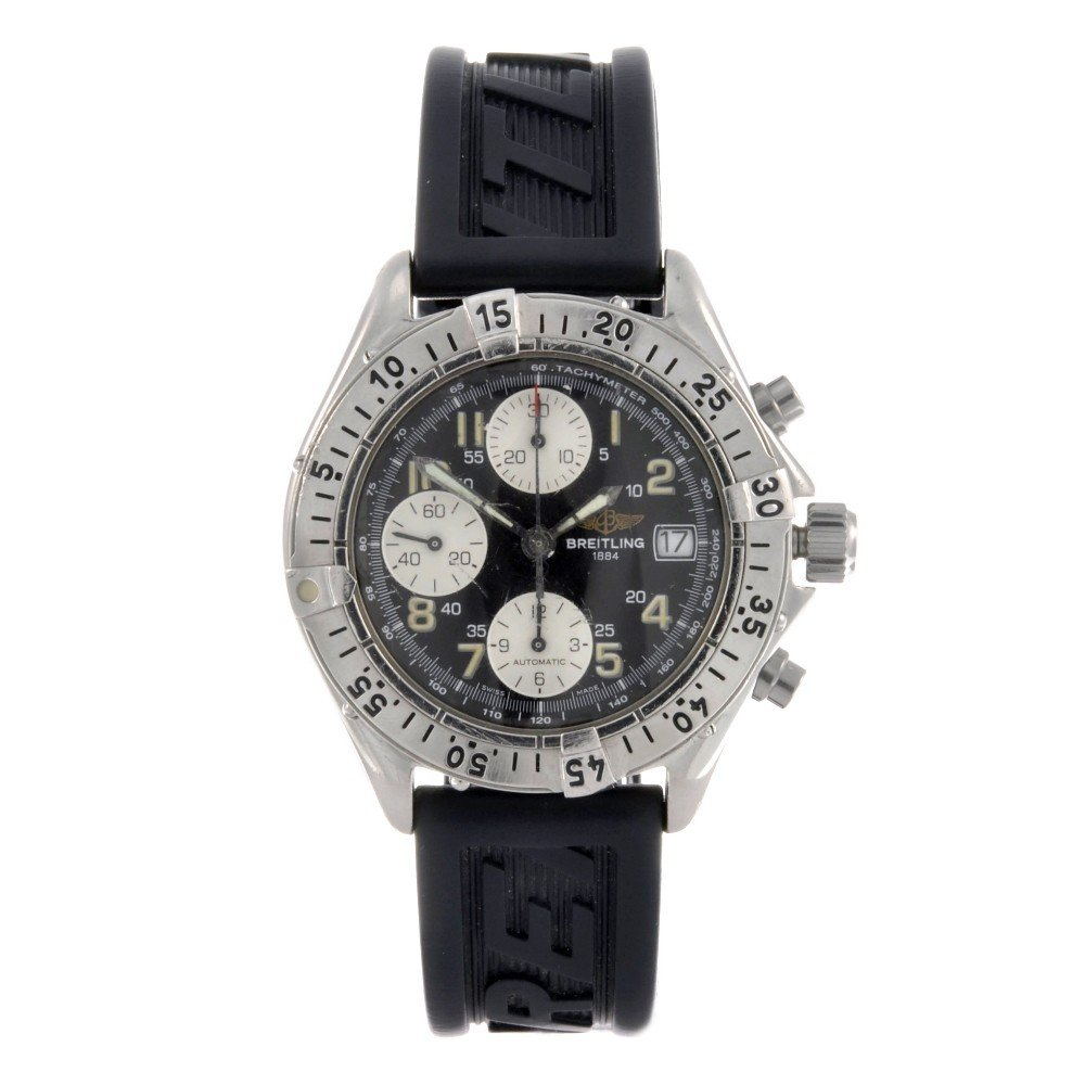 12: BREITLING - a stainless steel automatic chronograph