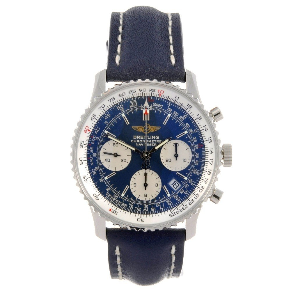 13: BREITLING - a stainless steel automatic chronograph