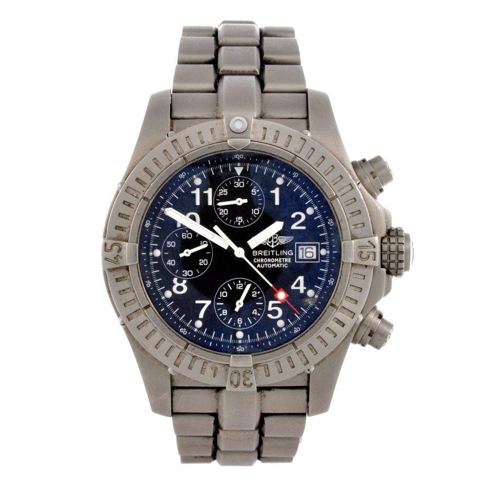 14: BREITLING - a titanium automatic chronograph gentle