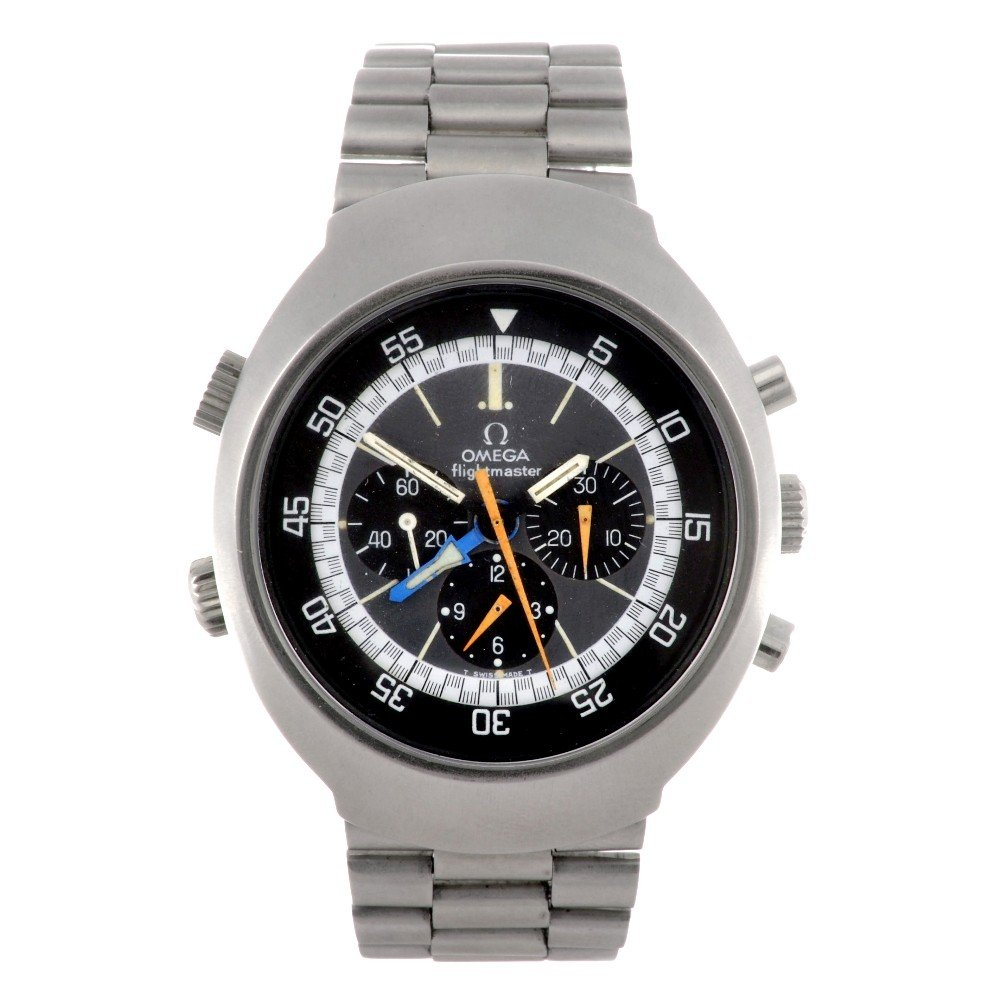 141: OMEGA - a stainless steel manual wind chronograph