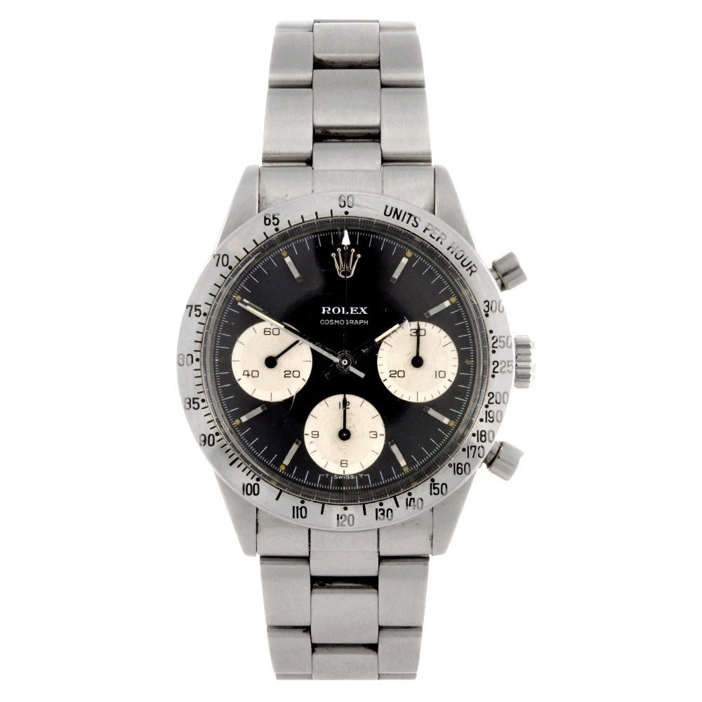 232: ROLEX - a stainless steel manual wind chronograph