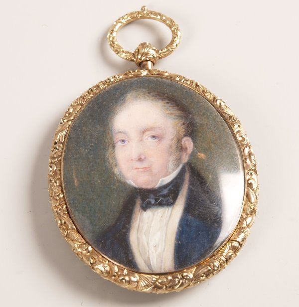 1023: 19th century oval portrait miniature depicting th