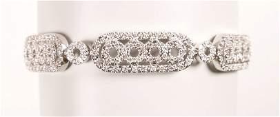 1768 18k white gold round brilliant diamond set open w