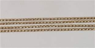 9ct gold belcher link guard chain, 144c