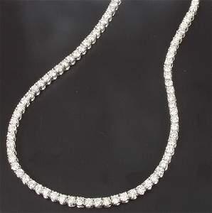 1333: Claw set diamond line necklet of 20.50c