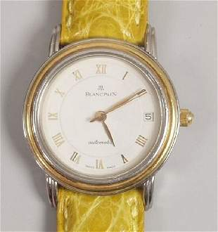 BLANCPAIN - a lady's recent 18ct gold a