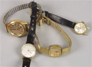 BULOVA - a group of four lady's watches