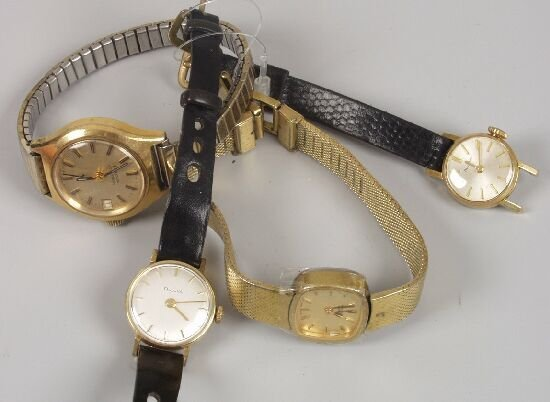 2011: BULOVA - a group of four lady's watches