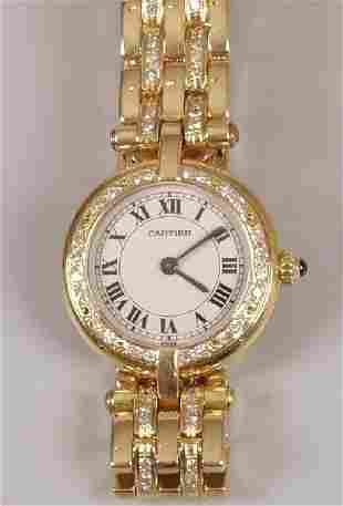 CARTIER - a lady's all 18ct yellow gold