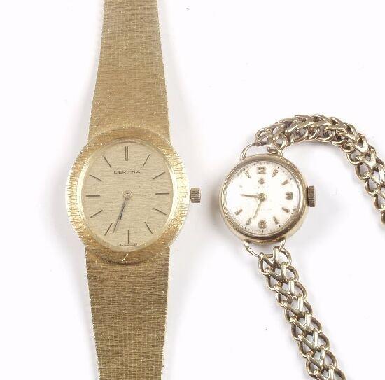 2022: CERTINA - a lady's 1970's 18ct gold bra