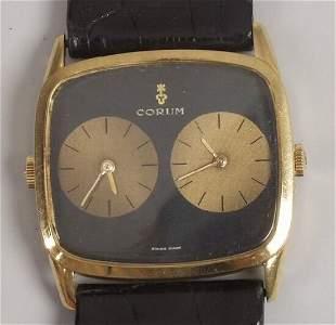 CORUM - a gentleman's 1970's 18ct gold