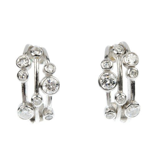 304: BOODLES - a pair of 'Raindance' diamond earrings.