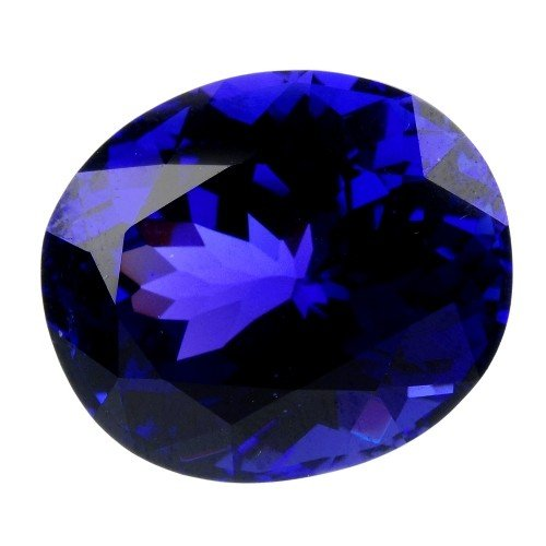 438: An oval-shape tanzanite, weighing 23.40cts. Togeth