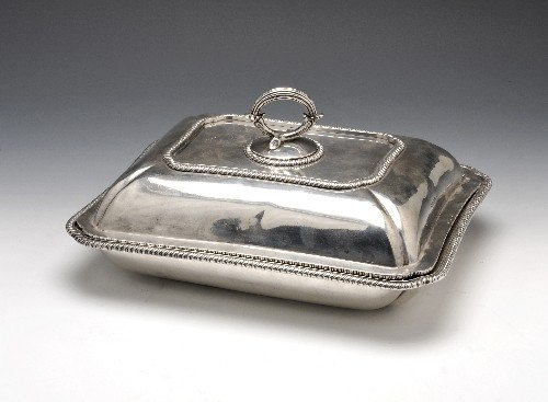 2: George III silver entree dish and cover.