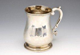 3: George II silver mug.