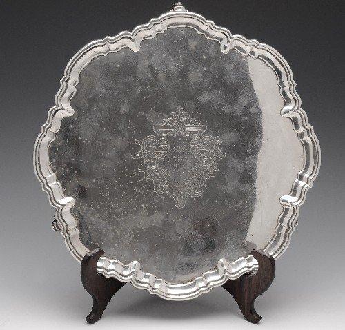5: A late Victorian silver salver.