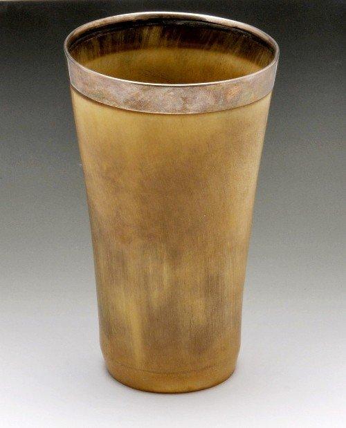 19: Victorian horn beaker.