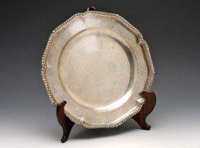 20: George III silver plate.