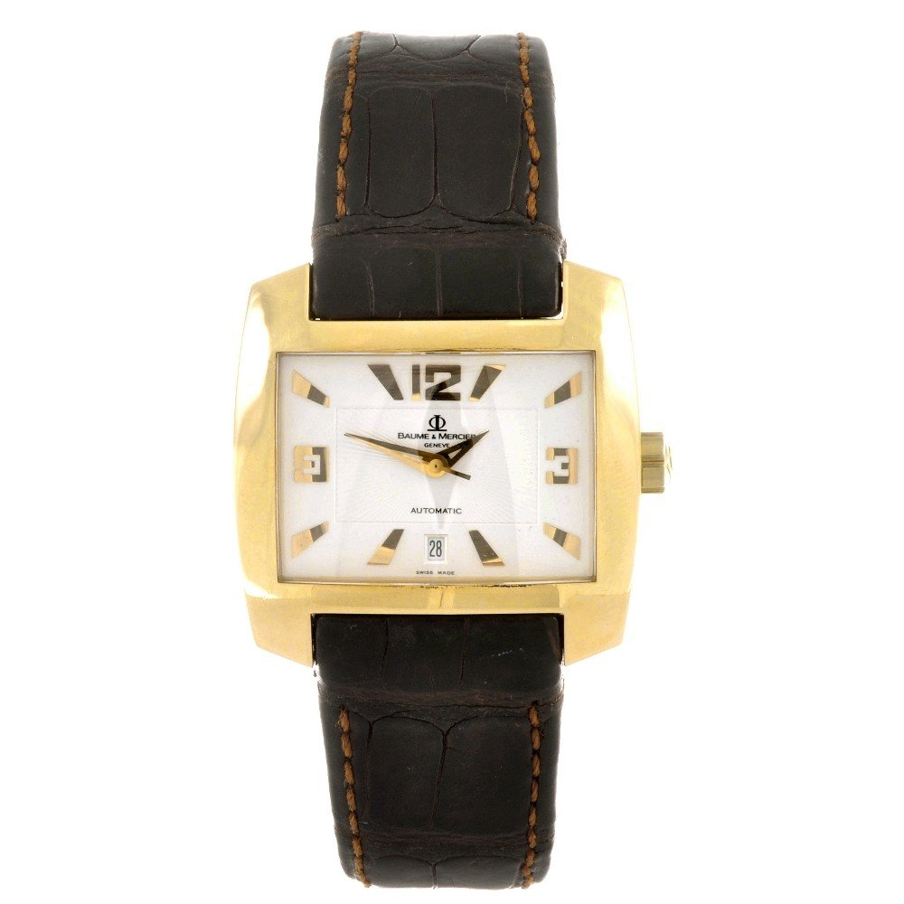 1: BAUME & MERCIER - an 18ct gold automatic gentleman's