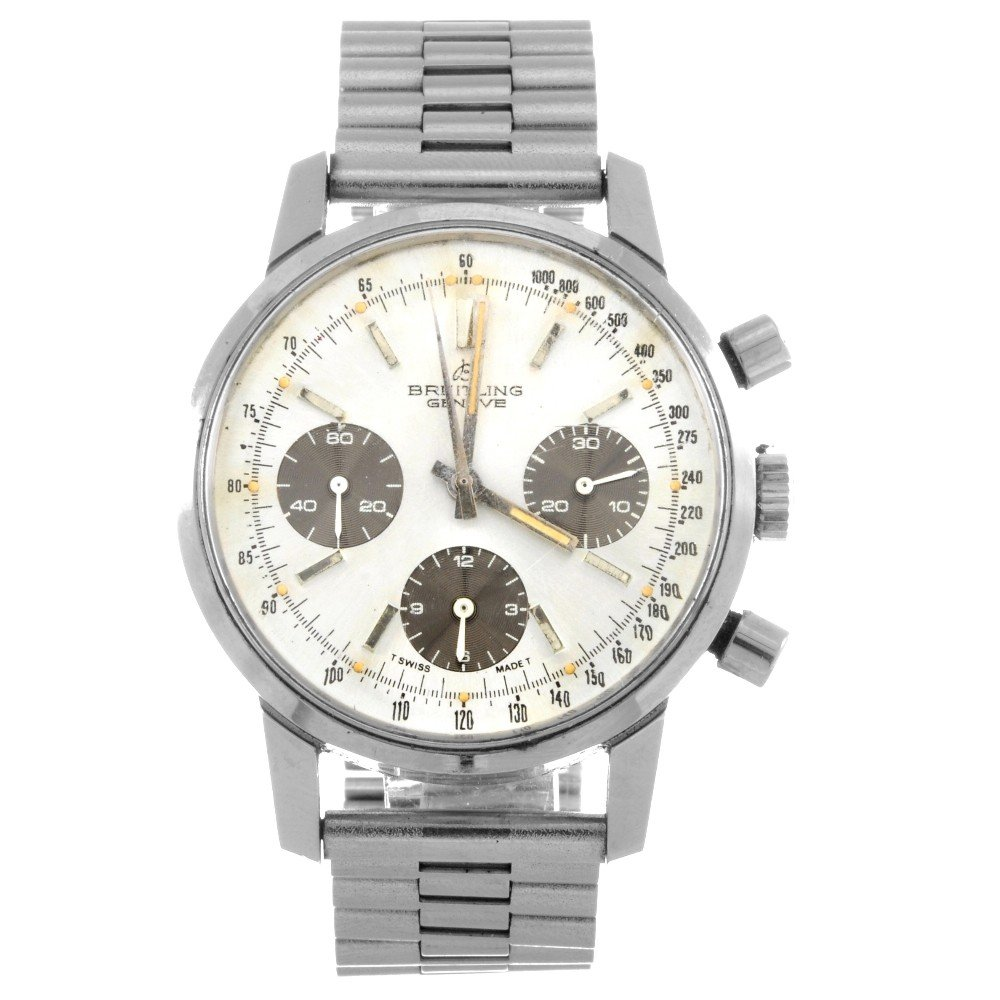 12: BREITLING - a stainless steel manual wind gentleman