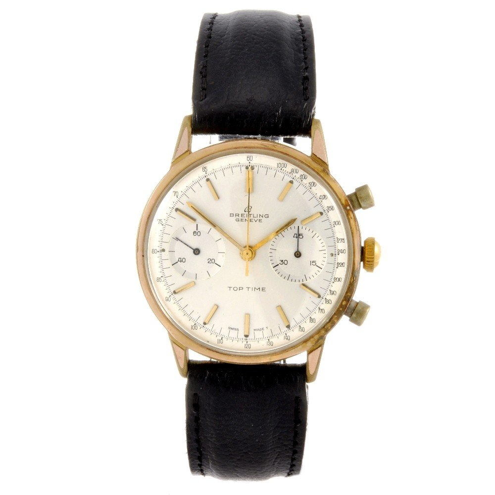 15: BREITLING - a gold plated manual wind gentleman's T