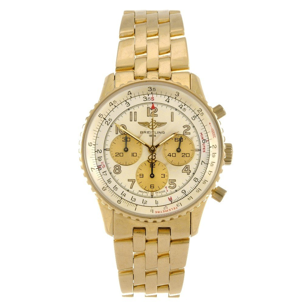 16: BREITLING - an 18k gold automatic gentleman's chron