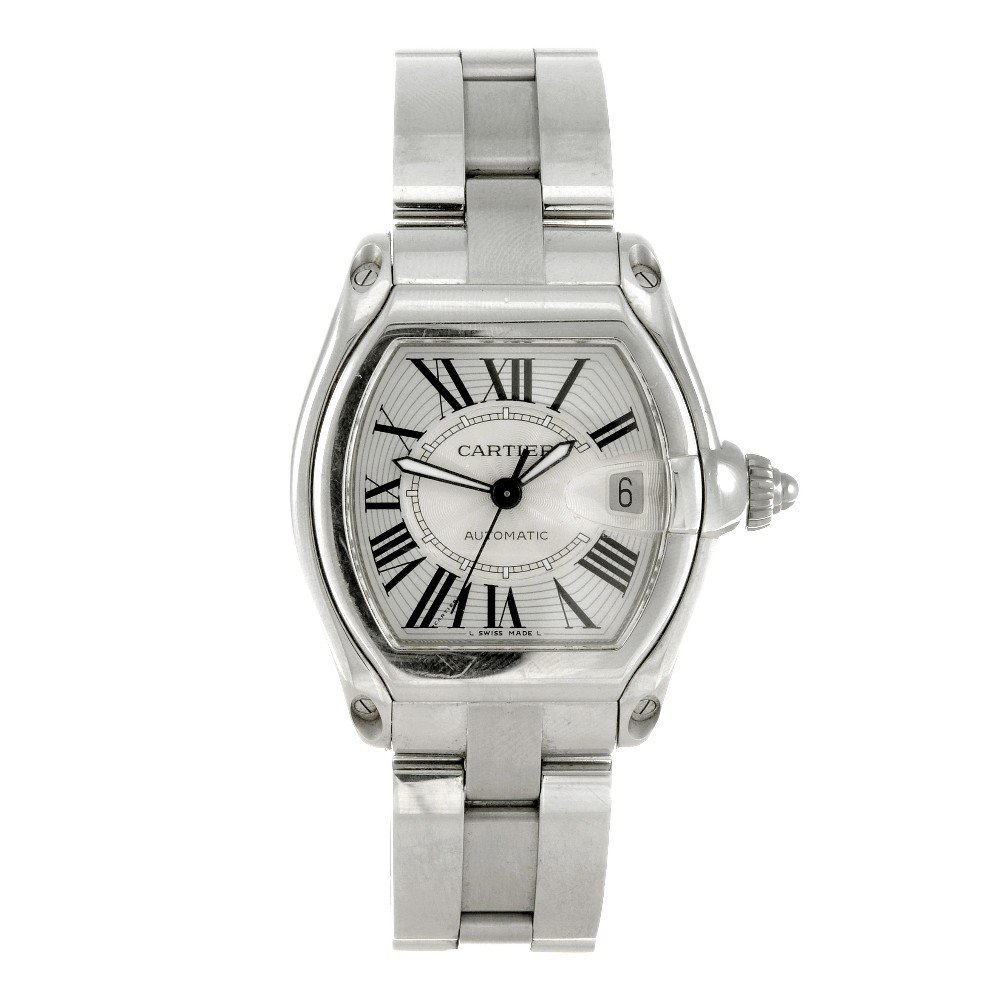 21: CARTIER - a stainless steel automatic gentleman's R