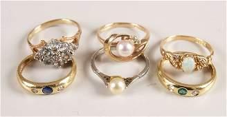 1883: 18ct gold emerald and diamond three stone gypsy r