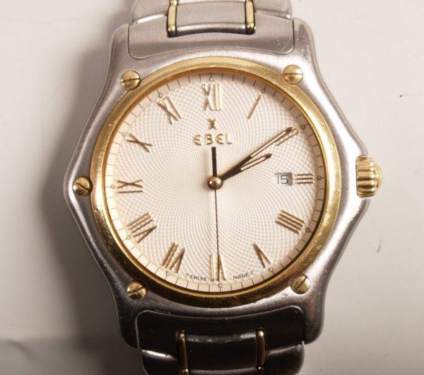 3021:  EBEL - a gentleman's steel and 18ct gold 1911 qu