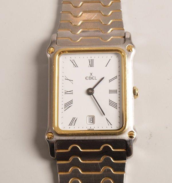 3023:  EBEL - a gentleman's bi-colour bracelet watch wi
