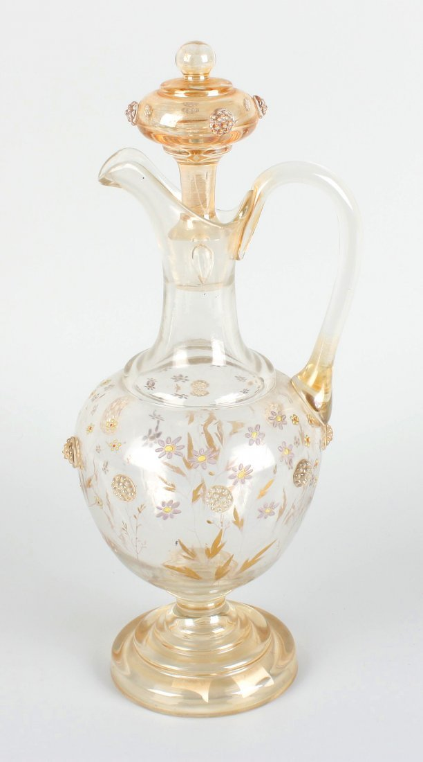3: A 19th century glass claret jug.